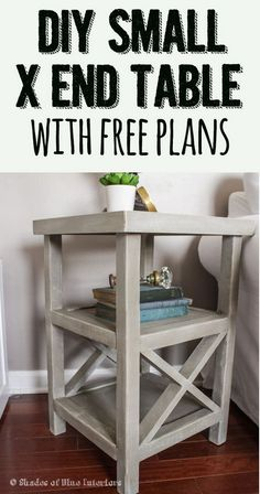 25 DIY Side Table Ideas With Lots of Tutorials