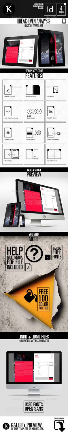 Modern Tablet Template - Vol1 Graphics and Presentation templates - breakeven template