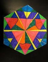 Art   Math = Magic!!  It's a trihexaflexagon!