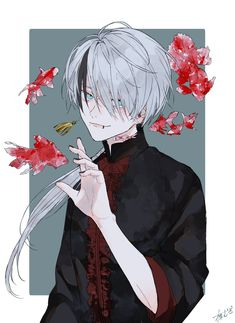 Discovered by sнσσđч ★. Find images and videos about boy, art and anime on We Heart It - the app to get lost in what you love. M Anime, Fanarts Anime, Dark Anime, Anime Demon, Kawaii Anime, Anime Art, Cool Anime Guys, Hot Anime Boy, Anime Boys