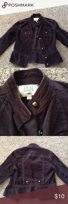 Old Navy Courteroy Jacket Chocolate brown, fitted, in great shape! No rips, spots or issues Old Navy Jackets & Coats Jean Jackets