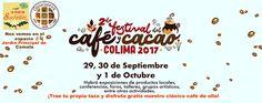 Desde este viernes 29 de septiembre, 2017 a partir de las 6 pm estamos convidados al 2do. Festival del café y cacao; que se llevará a cabo hasta el domingo 1o. de octubre en el Jardín Principal de Comala. Café La FLOR de Suchitlán y QuisQueya eco-arte-café estarán presentes. ¡Ahí nos vemos!
