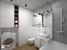 In addition to being a storage solution, bathroom furniture is an inseparable part of the integral design of this room. Narrow Bathroom, Ikea Bathroom, Laundry In Bathroom, Bathroom Colors, Bathroom Interior, Bathroom Ideas, Bad Inspiration, Bathroom Inspiration, Lavatory Design