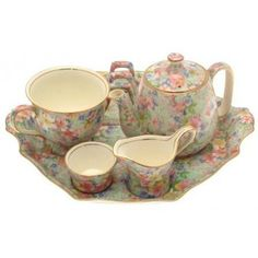 Antiques : c1951 Royal Winton Marion breakfast set complete vintage edition pattern 325 CP2180
