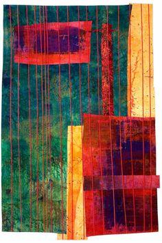 "Looking Out, 61 x 41"", by Catherine Kleeman | fiber art"