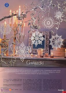 Crochet Stars - snowflakes