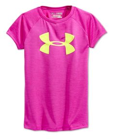 Lightweight, stretchy and designed with a super-fun print, this Under Armour logo T-shirt is a sports-day essential. | Polyester | Machine washable | Imported | V-neck | Short sleeves | Logo at chest