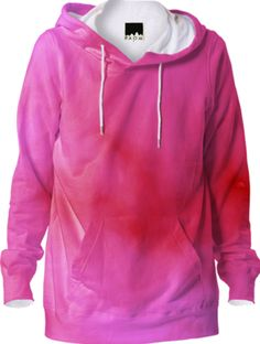 red and pink cloud abstract hoodie / This Hoodie is a custom Design Object, powered by PrintAllOver.Me