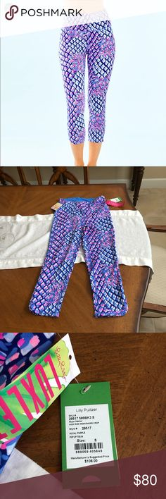 "095f7194e NWT Lilly Pulitzer weekender leggings cropped s Price firm! NWT Lilly  Pulitzer 21"" High"