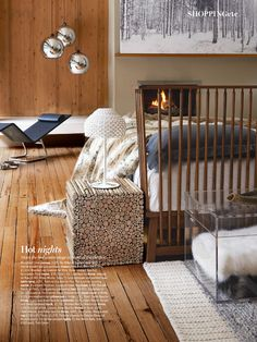 Chalet bedroom Living Etc Magazine