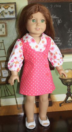 American Girl Study Hall in Flowers and Dots by RuthielovestoSew