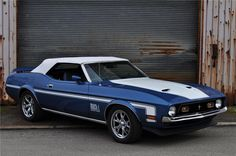 Classic Car News Pics And Videos From Around The World Ford Mustang 1969, Ford Mustang Shelby Cobra, Ford Mustang Convertible, Mustang Cars, Ford Mustangs, Blue Mustang, Mercury Cars, Barrett Jackson Auction, Ford Classic Cars