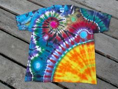 Kids Suraya Spiral ~ Corner Sun Rising Custom tie dye by PiecefulWorlds ~ Spiral Galaxy ~ Out of this world tyedye !