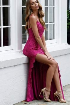 These styles are all flattering, feminine and perfectly complementary to any bridal dress. #bridemaid #bridemaids #bridemaidsdresses #bridemaiddress #wedding #weddingday #weddingceremony #weddingplanning #bride Sexy Evening Dress, Evening Dresses, Prom Dresses, Lace Dresses, Formal Dresses, Lace Prom Gown, Spaghetti Strap Dresses, Spaghetti Straps, Colored Highlights