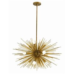like star burst - brass chandelier