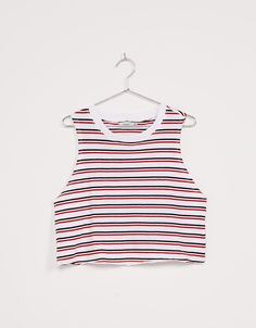 Striped top. Discover this and many more items in Bershka with new products every week