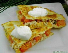 Bacon Chicken Cheese Quesadillas