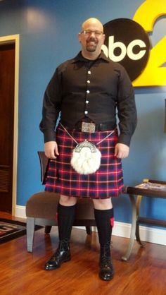Producer Patrick McLendon is honoring his Scottish heritage today by celebrating National Tartan Day a few days early so more of his coworkers would be around to see his awesome outfit! Patrick's family is associated with the clan of MacLennan, whose lands were in Northwest Scotland.