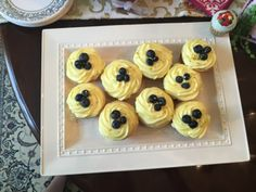 Lemon Blueberry Cupcakes with cream cheese frosting! Perfect for a bridal shower or birthday party! Lemon Blueberry Cupcakes, Cupcakes With Cream Cheese Frosting, Hungry Hungry, Baking Cupcakes, Bridal Shower, Muffin, Breakfast, Birthday, Sweet