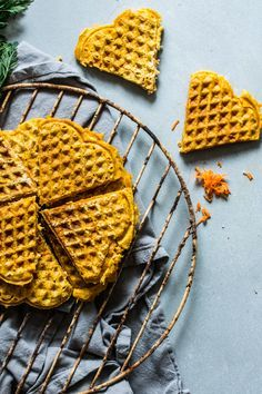 Spelled - Carrot Waffles by Ms. Low Carb Pancakes, Savory Pancakes, Vegan Pancakes, Pancakes Easy, Carrot Pancakes, Best Pancake Recipe Ever, Vegan Pancake Recipes, Cinnamon Waffles, Pumpkin Waffles