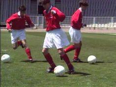 Fútbol Base. La Conducción del balón - YouTube