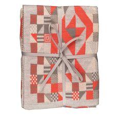 Archies. Sarah Elwick Knitwear Fluoro Geometric Pram Blanket