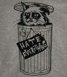 Yes, Grumpy Cat needs her own Oscar-the-grouch garbage can to live in!