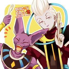 Whis or Wiss from DragonBall Super. Dragon Ball Z and Lord Beerus