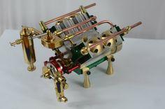 V4 model steam engine