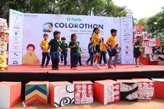 TBS Children in action during Colorothon Event hosted by The Bangalore School (TBS) #preschool #playschool #daycare #kindergarten #Whitefield #Bangalore #India #nursery #colorothon