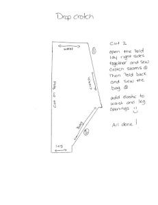 Self Drafted Harem Pants: Pattern Diagram Below | mimi g. style