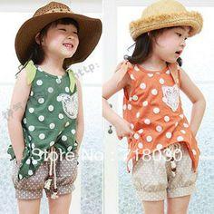 2013 summer girls clothing child irregular sleeveless T-shirt shorts casual set Children's Clothing Sets tz0121 free shipping