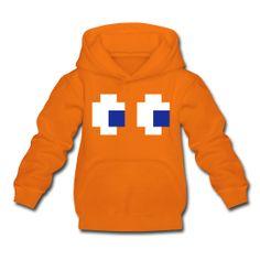 Sudadera niño naranja con capucha y bolsillo delantero ~ Clyde Kids Hoodie. Komekokos Revival