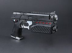 Judge Dredds (Sylvester Stallone) SFX Double Whammy Lawgiver Pistol   Prop Store - Ultimate Movie Collectables