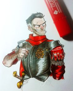 Cranky Vimes. I love this drawing!