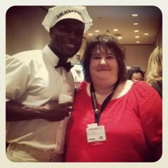 The milkman and @robynsworld at #blogher12
