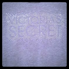 Victoria's Secret BLINGAngels Sleep Tee Grey BLING VS Angel Sleep Tee! Worn one time - Washed one time. Great condition! UPDATE: (Just realized the original 2nd pic looked kinda funky- will post a new full length soon)  Unfortunately I failed to turn it inside out when washed so while all the BLING is still there from what I see there are a few fuzzies , nothing huge! 60% cotton 40%polyester More info too follow! Victoria's Secret Intimates & Sleepwear Pajamas
