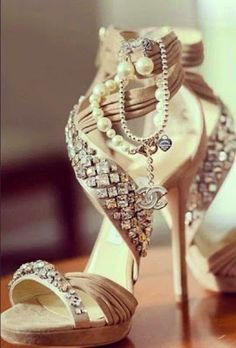 Sparkling Chanel Shoes. ...now go forth and share that BOW DIAMOND. http://www.trish120.wordpress.com