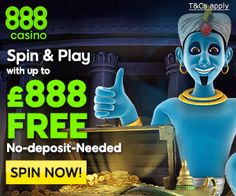 Spin and Play with up to £888 free no deposit needed!
