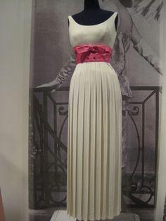Oleg Cassini Crepe Evening Dress with Raised Waistline - 1962