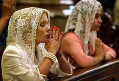 """""""The return of the chapel veil, along with the liturgical renewal in the English translation of the mass, will send a clear and definite signal to the world that English-speaking Catholics have not lost the time-honored traditions of our sacred Catholic faith."""""""