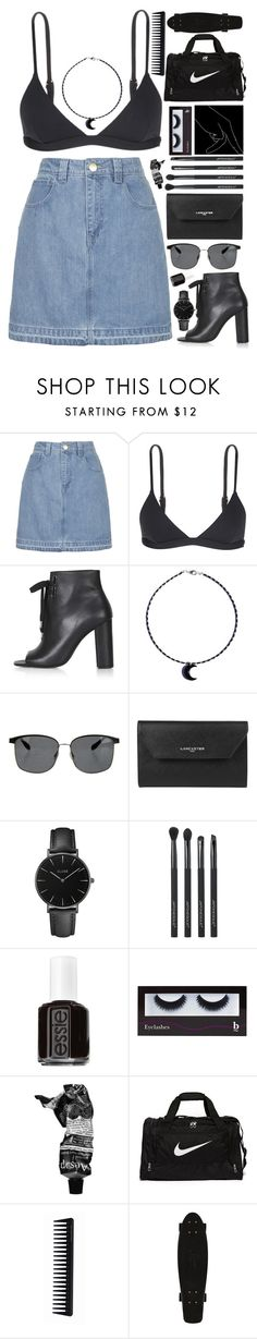 """my last day at Coachella (wish)"" by mllebond ❤ liked on Polyvore featuring Topshop, Mara Hoffman, Oliver Peoples, Lancaster, CLUSE, Japonesque, Essie, BBrowBar, Aesop and NIKE"