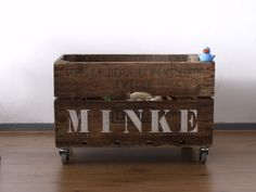 Also available: Crate with the name of your child