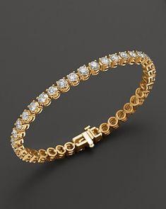 Certified Diamond Tennis Bracelet in 14K Yellow Gold, 2.50 ct. t.w. | Bloomingdale's