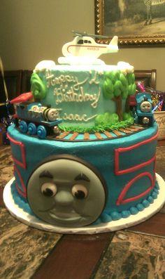 Thomas the Train Cake  www.contemporarycakery.com