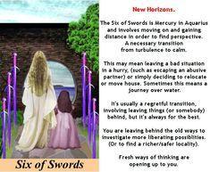 SIX OF SWORDS #tarot