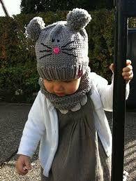 Bildergebnis für mützen loop mit Ohren für Kinder stricken