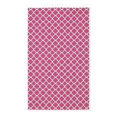 Pink Moroccan Lattice 3x5' Area Rug on CafePress.com