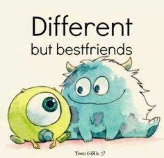 Different but best friends...afreakindorable!!!