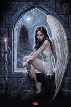 Gothic Female Angels Chained Up | Click on above image to view full picture